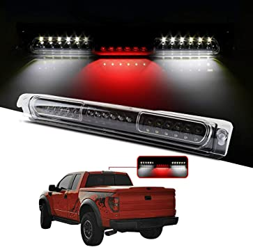 High Mount Brake Light LED 3rd Light Red Lens Rear Roof Light Replacement fit for 1997-2003 Ford F-150 FO2890102 XL3Z13A613AA