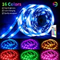 ViLSOM LED Strip Lights 32.8FT 10M RGB Color Changing SMD5050 with Remote and 12V Power Supply, for Bed Room, Kitchen, Desk, Party DIY Decoration