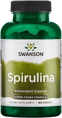 Swanson Spirulina 500 Milligrams 180 Tabs