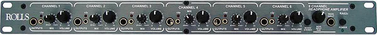 rolls RA62C 6-Ch Pro Headphone Amp 1U