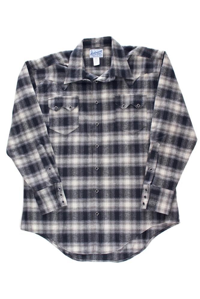 Rockmount Plaid Flannel Western Shirt Black 647-BLK-Black-L
