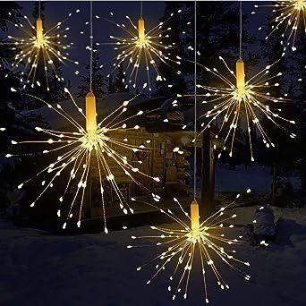 Led Lichterkette Weihnachten.Towinle Led Lichterkette Feuerwerk Lichterketten Weihnachten Led Dekoration Weihnachtslichterkette Batteriebetrieben Fernbedienung