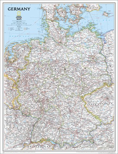 Map Germany Poster 24 x 30in