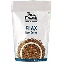 True Elements Raw Flax Seeds, 500gm