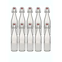 hocz 10 Bügelflaschen Glasflaschen 500ml Typ A mit Bügelverschluss zum Selbstbefüllen Bügelflasche Smoothie