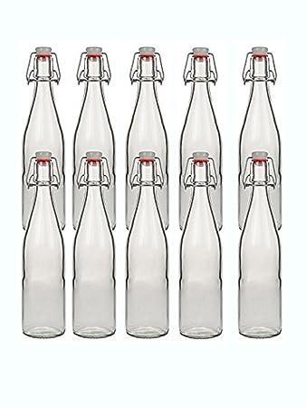 hocz 10 Bügelflaschen Glasflaschen 500ml Typ A mit Bügelverschluss ...