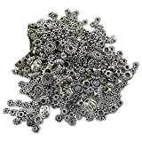 GraceAngie 100-Piece (100gm) Bali Style Deluxe Spacer Mix Metal Beads, Antique Silver,Jewelry Making