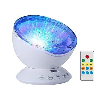Lámpara Proyector, Proyector de Luz Océano Nocturna para 7 Modos ...