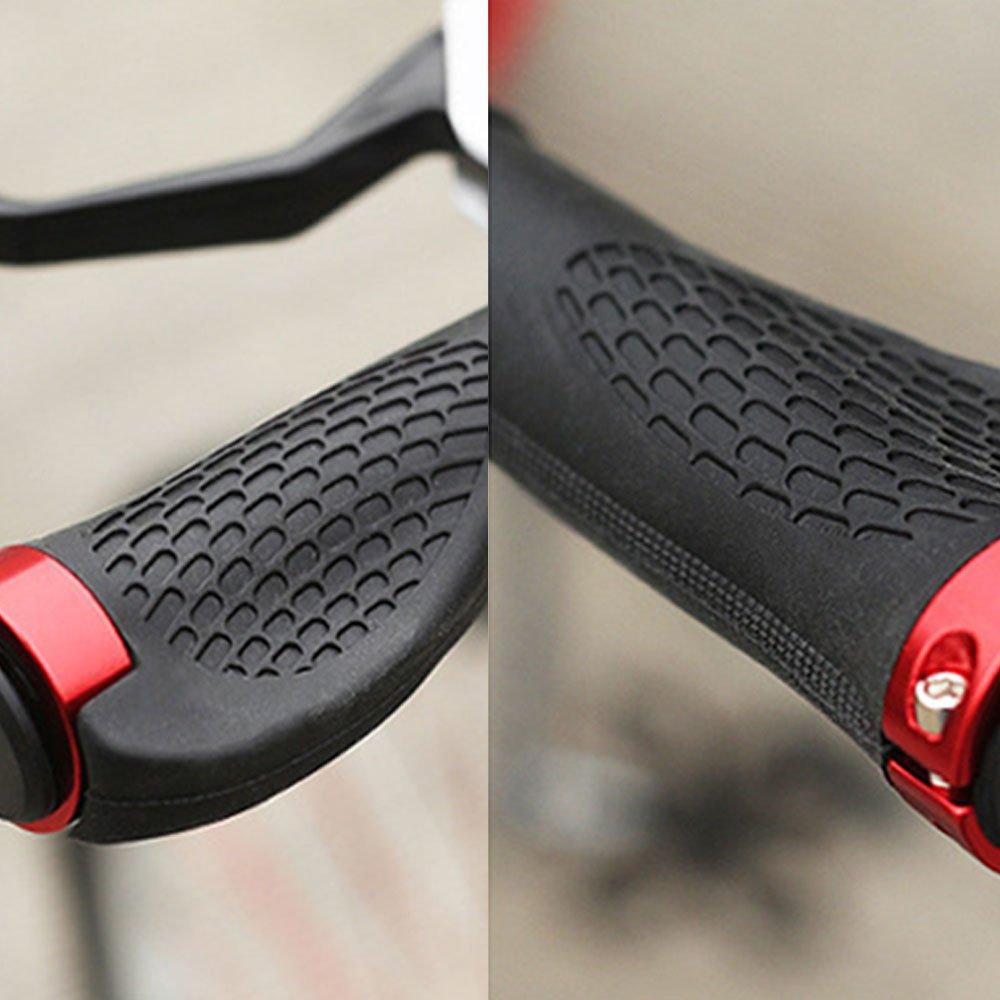 BEETEST 1 par de monta/ña en bicicleta bicicleta MTB bicicleta ergon/ómica antideslizante tapa manillar Manillar agarre