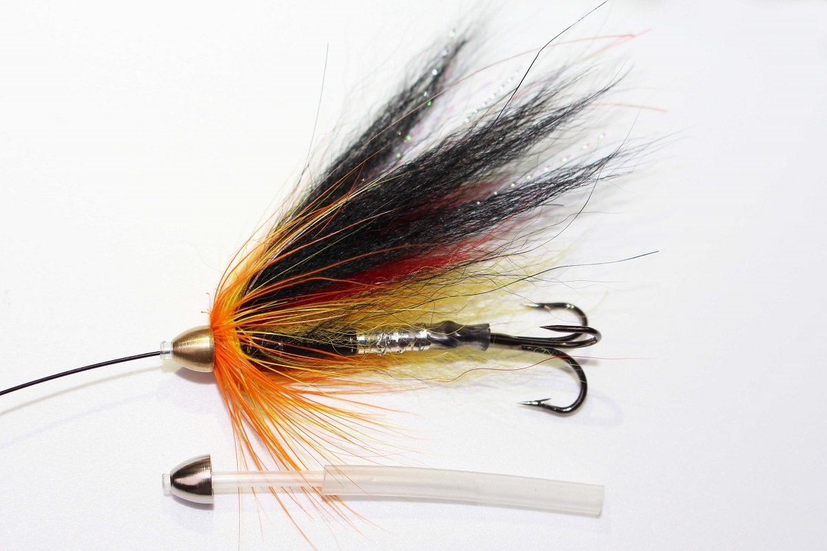 12 St/ück K/öder-Set Forellen Tigofly Fliegenfischen Kegelkopfschl/äuche f/ür Lachs Fliegenfischen Stahlkopf