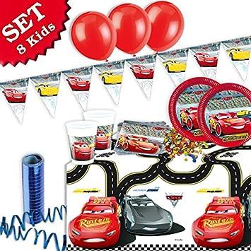 Geburtstagsfee Cars 3 Birthdays Kids Birthday Party Decoration Set 50 Piece Boys And