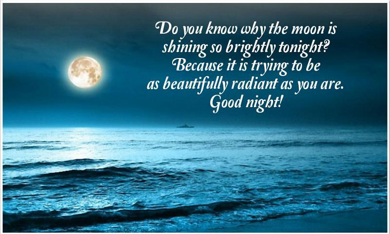 Image result for good night moonlight ocean