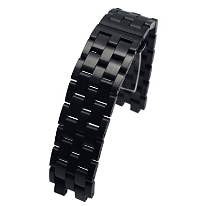 Amazon.com: MOTONG Stainless Steel Metal Watch band For ...