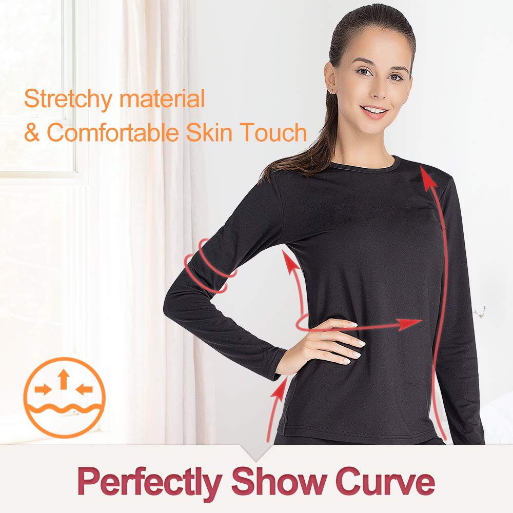 Thermal Underwear for Women Long Johns Set Fleece Lined Ultra Soft MANCYFIT
