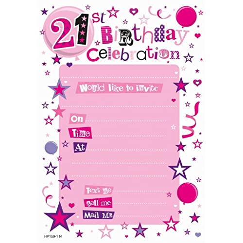 Birthday Invitations Female 50th Pack Of 20 Sheets Creative