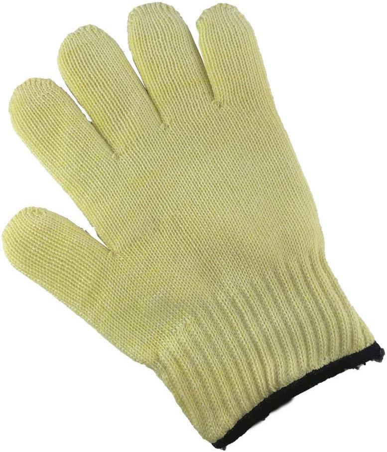 Guantes de doble capa resistentes a altas temperaturas barbacoa a prueba de fuego de alta temperatura a prueba de cortes anti-escaldado guantes de aramida
