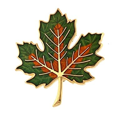 0c16fe6ac Image Unavailable. Image not available for. Color: Fall Maple Leaf Brooch  or Pin