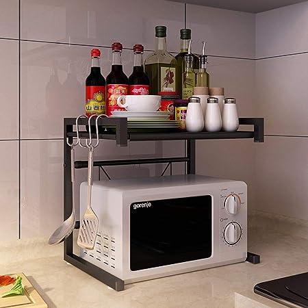 Vinteky Estante de Horno para Microondas, Estantería de Cocina, Ideal para Colgar Multifuncional Organizador Estantería Cocina, Negro: Amazon.es: Hogar