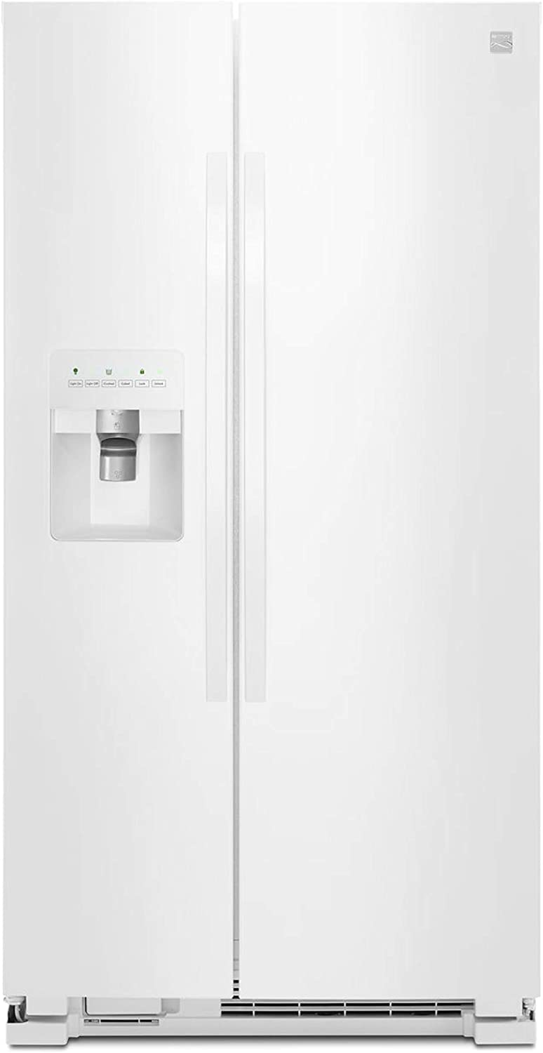 Kenmore 50042 25 cu. ft. Side-by-Side Refrigerator with Ice Maker with Window in White, includes delivery and hookup
