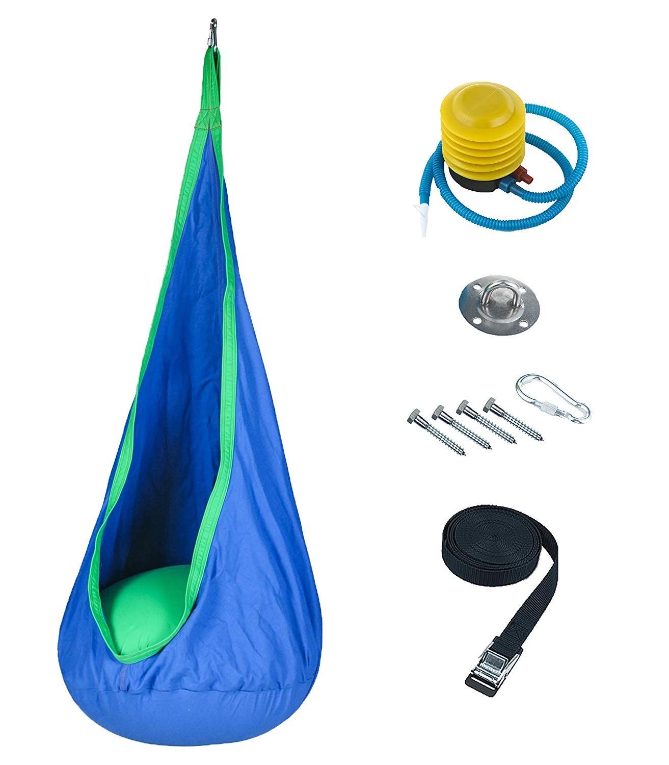 Harkla Sensory Swing for Kids - Includes Hardware - Great as a Hanging Pod Swing, Autism Swing or Therapy Swing