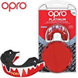 Opro Adult Platinum Level Mouthguard | Gum Shield for Hockey, Rugby, Boxing, and Other Combat and Contact Sports - 18 Month Dental Warranty (Ages 10+)