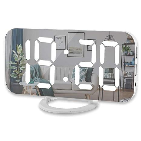 Xigeapg Reloj Despertador Digital, Pantalla Led Grande De 6 ...