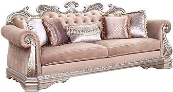 Amazon.com: Acme Furniture Sofa, Velvet & Antique Silver: Kitchen