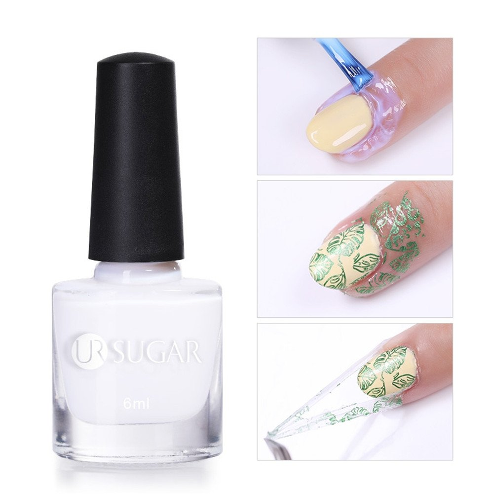 UR SUGAR 6ml Latex Tape Peel Off Liquid Cuticle Guard Skin Barrier Protector Manicure Palisade For Nail Art 2 Bottles CoulorButtons