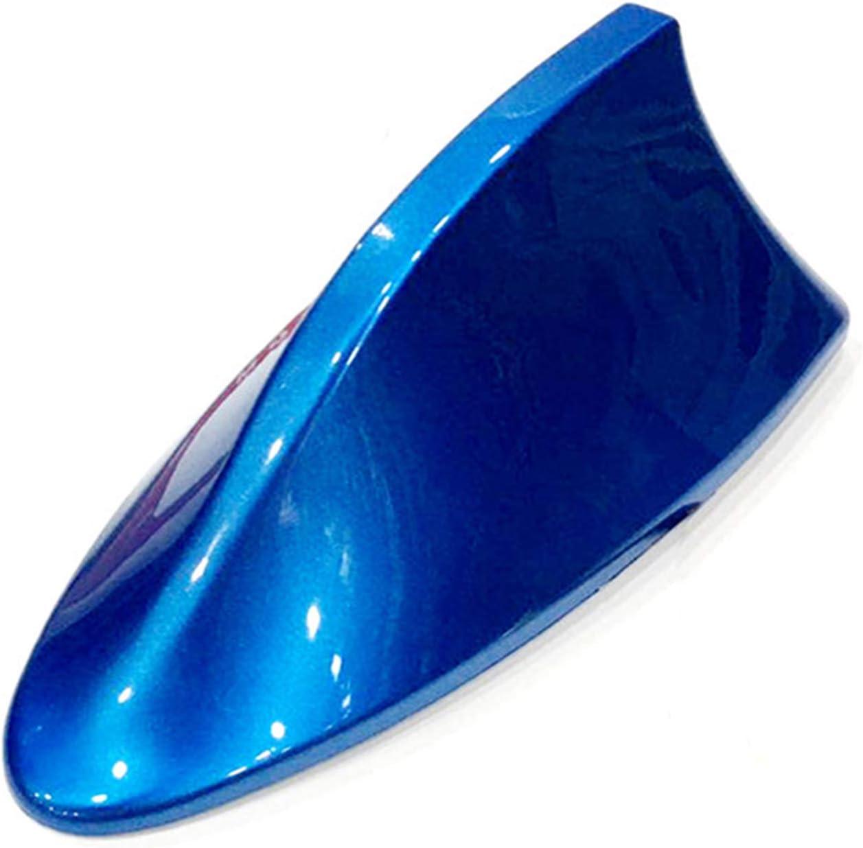 Antena para Coche, Antena de Aleta de tiburón, señal Am FM, Antena de Radio para Coche con Adhesivo ABS Barniz Pintura Decoración (Nacarado, Azul)