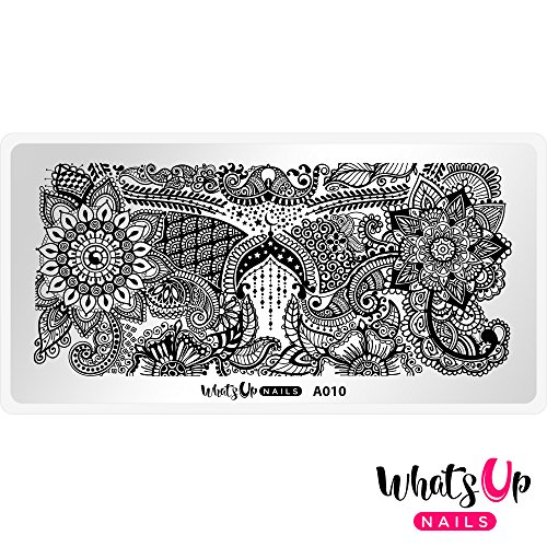 Whats Up Nails - A010 A Henna Entrancement Stamping Plate for Nail Art Design
