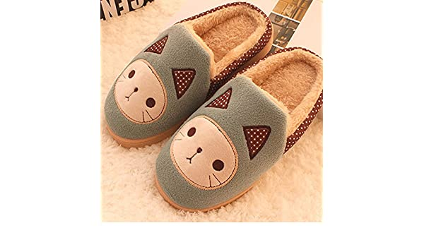 Aemember A Couple Of Warm Winter Home And Cotton Slippers Slippers With Half A Pack Of Slip,34-35 WomenS //250Mm,Navy Blue
