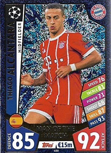 179 Match Attax Liga de Campeones 19//20 Thiago Alcântara FC Bayern München no