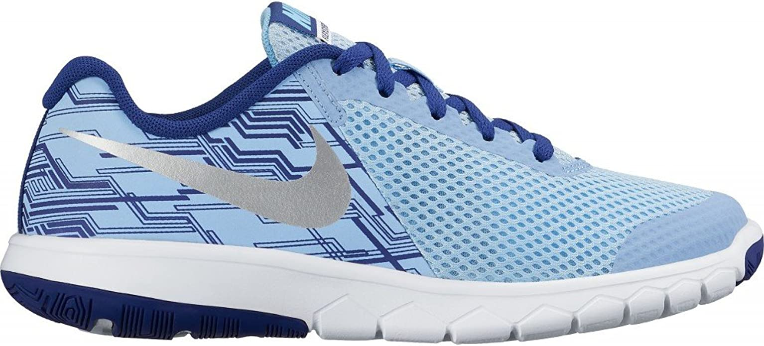Nike Flex Experience 5 Print (GS), Zapatillas de Running para Mujer, Azul (Bluecap/Metallic Silver-Deep Royal Blue), 38 1/2 EU: Amazon.es: Zapatos y complementos