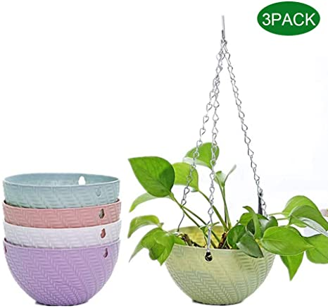 Planters for Plants Blue for Indoor and Outdoor Hanging Planter ...