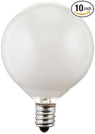 40-watt G16.5 Decorative Globe E12 Candelabra Base Light Bulbs ...