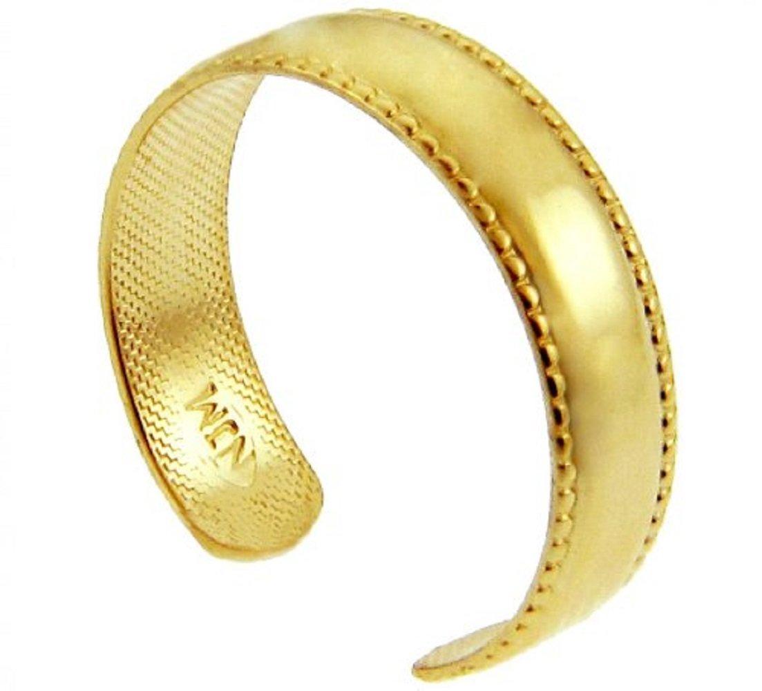 Classic 14k Yellow Gold Bold Milgrain Edge Toe Ring