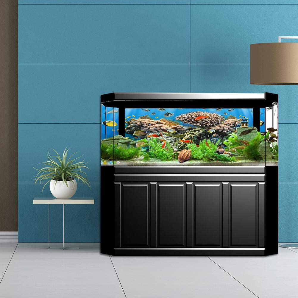 Amazon.com: Aquarium Fish Tank Background Decorative Painting Fish Tank Background Riverbed and Bottom of The Lake: Kitchen & Dining