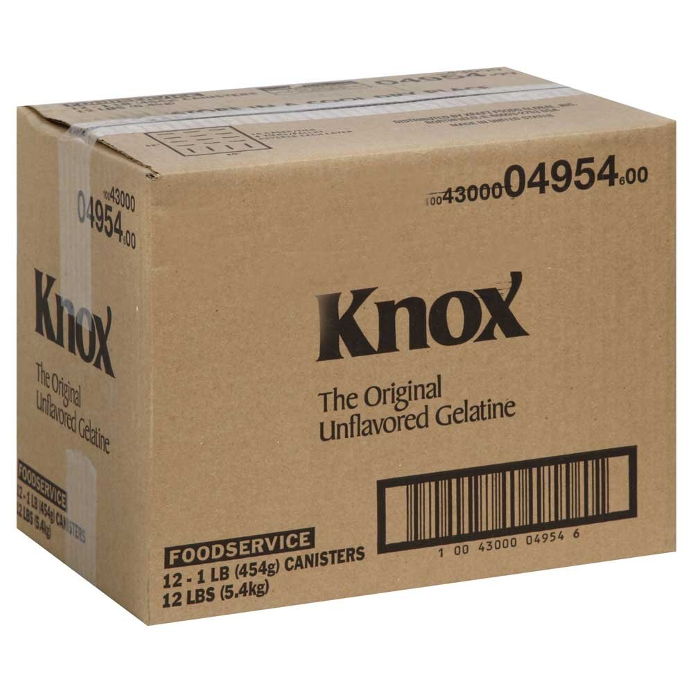 Amazon.com : Knox Unflavored Gelatin Powder, 16 Ounce -- 12 per case ...