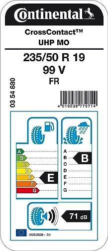E//C//72dB SUV e Fuoristrada Pneumatico Estivi CONTINENTAL CrossContact UHP MO 255//50//19 103W