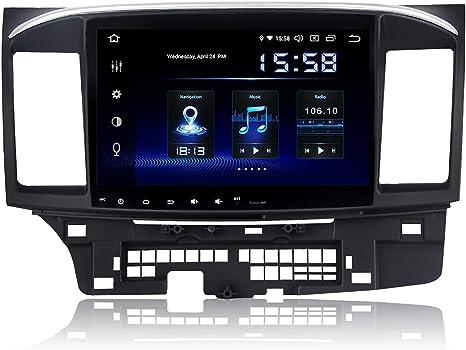 SYGAV Android Car Stereo 8 Core 4G Ram GPS Navigation Radio for 2008-2017 Mitsubishi Ralliart Lancer EVO X Head Unit Without OEM Rockford Fosgate AMP