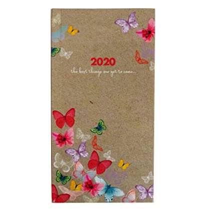 2020 - Agenda de vista semanal, diseño de mariposas o flores ...