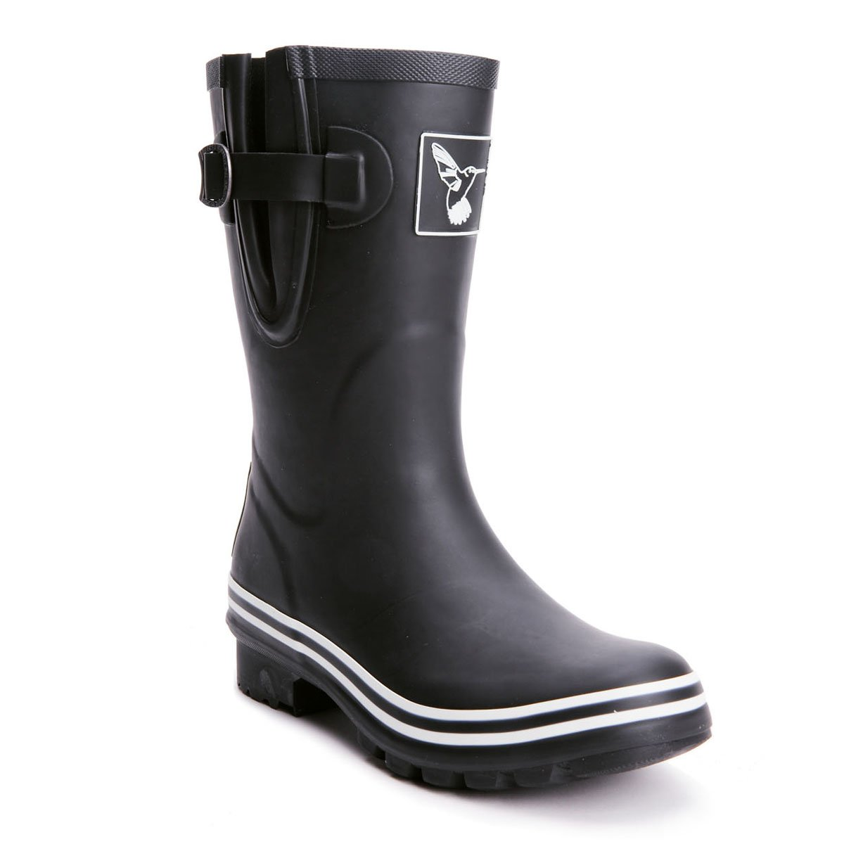 Evercreatures Women's Rain Boot Printing Waterproof Mid-Calf Boots Cute Printing Boot Rainbow Rain Boots Wellies Rain Shoes UK Brand B011LP0JZI 5 B(M) US / UK3 / EU36|Black 5f8af1