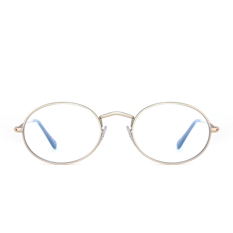 Gafas transparentes ovaladas