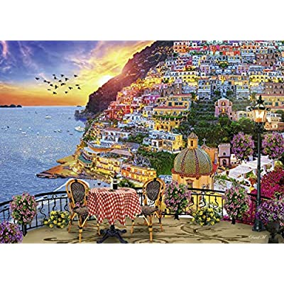 Ravensburger Dinner in Positano 15263 1000 Piece Puzzle for Adults, Every Piece is Unique, Softclick Technology Means Pieces Fit Together Perfectly: Toys & Games