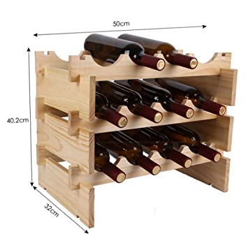 Wine rack Hogar, Bar, Hotel Ktv, Portavasos, Portavasos, Decoración, Accesorios para el hogar,3 Niveles: Amazon.es: Deportes y aire libre