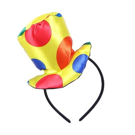 YeahiBaby Jester Diadema Payaso Sombrero Superior Sombrero Carnaval Disfraz Rendimiento para niños Adultos