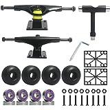 Jizmo Skateboard Trucks, Skateboard Wheels 52mm, Skateboard Bearings ABEC-11, Skateboard Tool, Skateboard Pads, Skateboard Ha