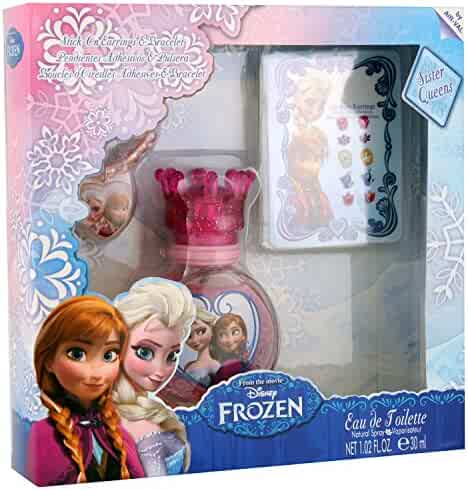 Disney Frozen for Kids Gift Set, Eau de Toilette Spray, Stick On Earrings & Bracelet, 3 Piece