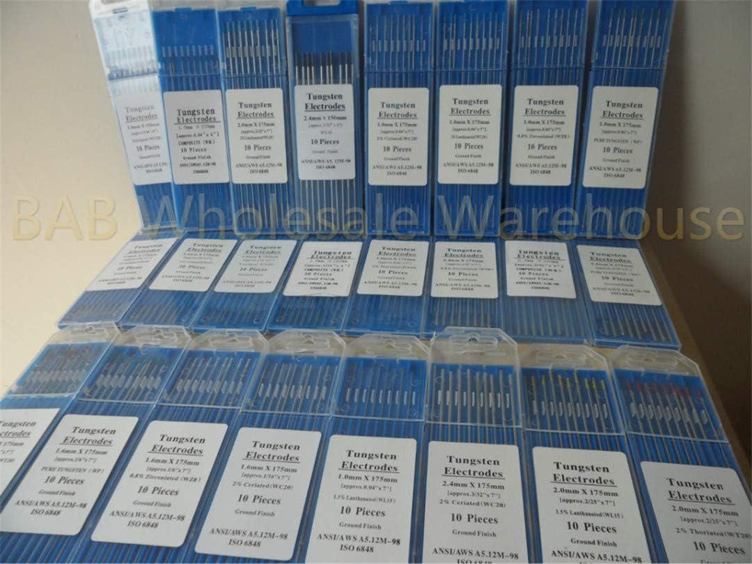 10 x Tungsten Electrodes WC20 WL15 WT20 TIG DC Welding 2.4mm