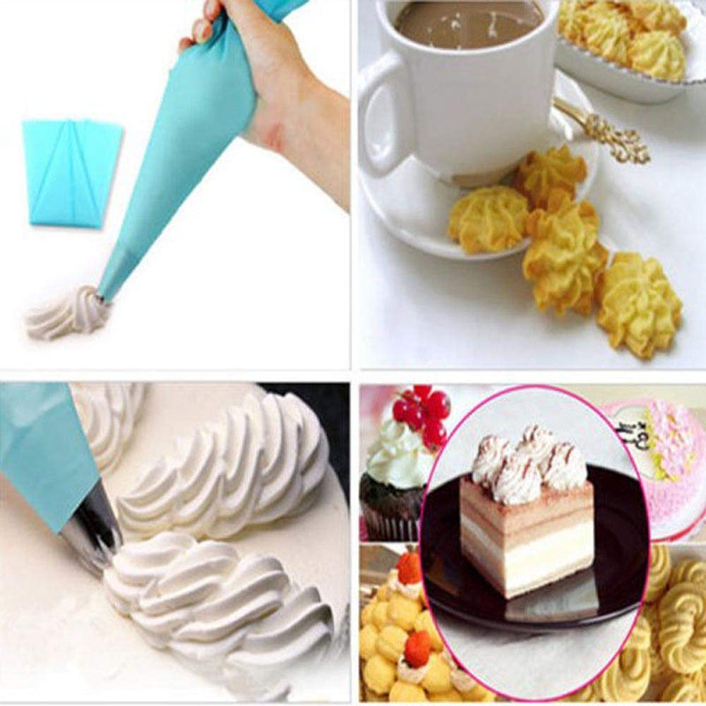 ️ Yu2d ❤️❤️ ️Reusable Silicone Pastry Bag Icing Piping Bags Cream Cake Bake Decorate